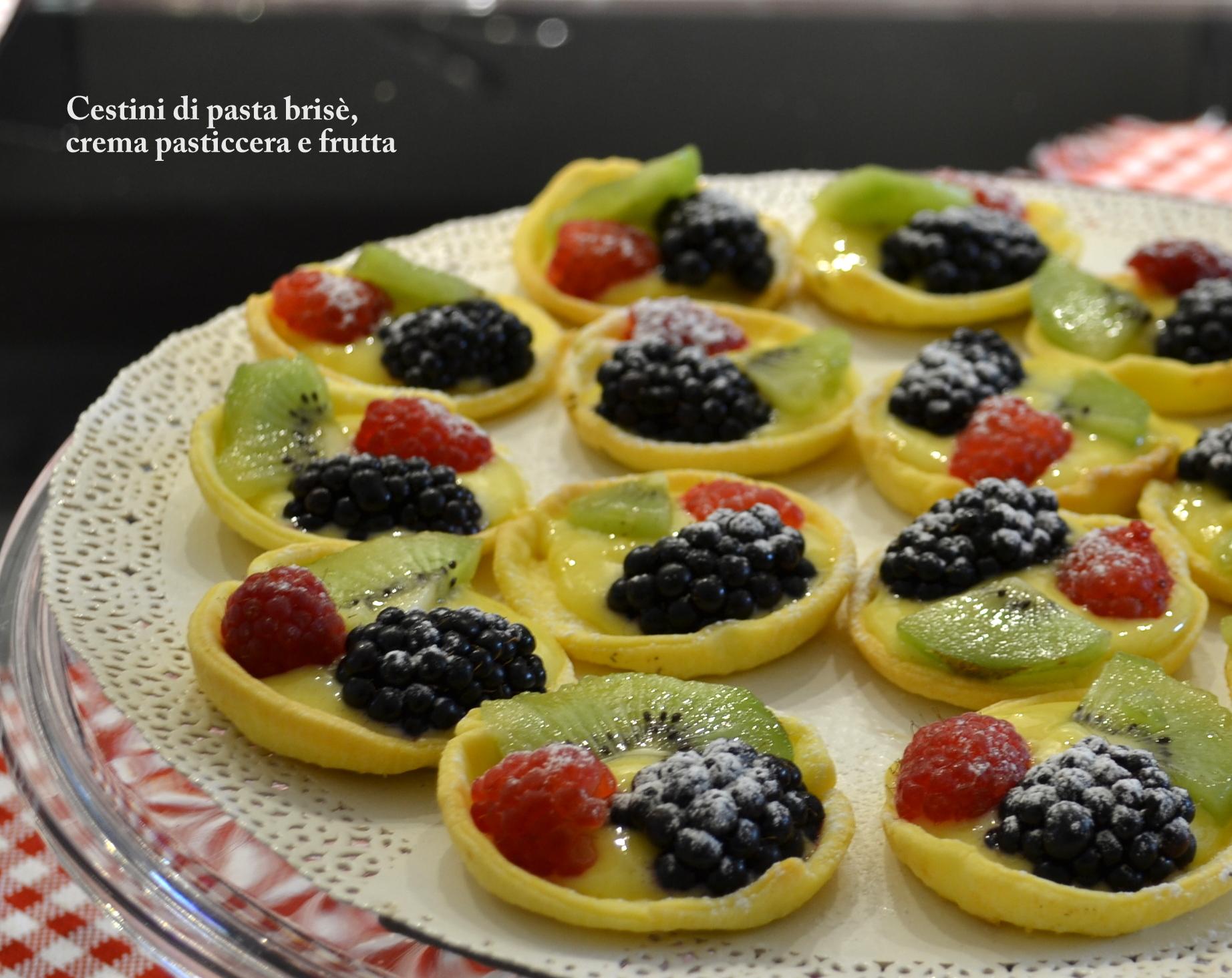 Cucinare Creare Cestini Di Pasta Brise Con Frutti Di Bosco